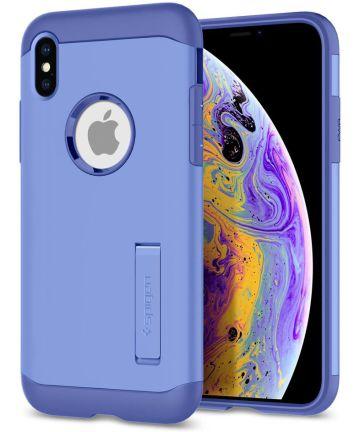 Spigen Slim Armor Apple iPhone XS Hoesje Violet
