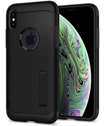 Spigen Slim Armor Apple iPhone XS Hoesje Black