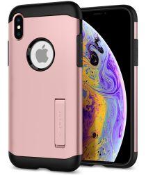 Spigen Slim Armor Apple iPhone XS Hoesje Rose Gold