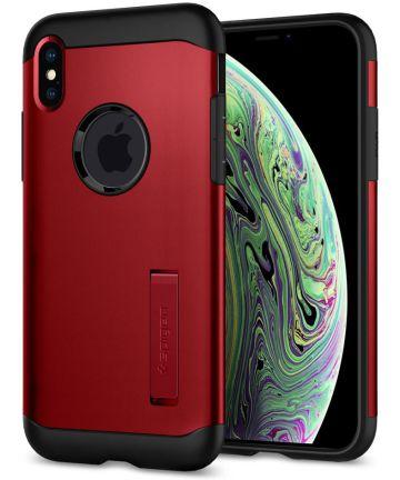 Spigen Slim Armor Apple iPhone XS Hoesje Merlot Red