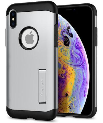 Spigen Slim Armor Apple iPhone XS Hoesje Satin Silver Hoesjes