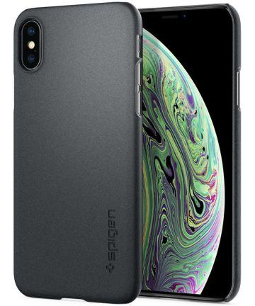 Spigen Thin Fit Case Apple iPhone XS Graphite Gray Hoesjes