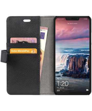 Huawei P Smart Plus Hoesje met Kaarthouder Zwart
