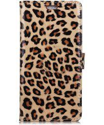 Huawei P Smart Plus Portemonnee Hoesje met Luipaard Print