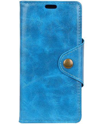 Huawei P Smart Plus Portemonnee Hoesje Blauw Hoesjes