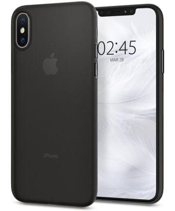 Spigen AirSkin Apple iPhone XS Case Black Hoesjes