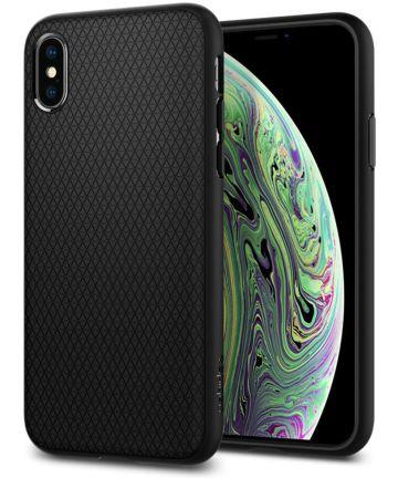 Spigen Liquid Air Case iPhone XS Matte Black Hoesjes