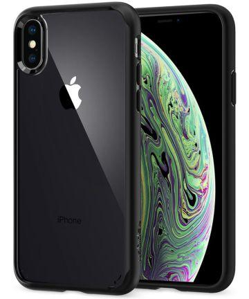 Spigen Ultra Hybrid Case Apple iPhone XS Matte Black Hoesjes