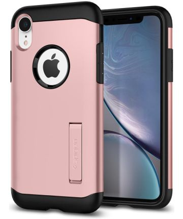 Spigen Slim Armor Hoesje Apple iPhone XR Rose Gold Hoesjes