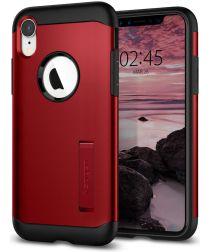 Spigen Slim Armor Hoesje Apple iPhone XR Merlot Red