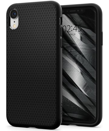 Spigen Liquid Air Hoesje Apple iPhone XR Matte Black Hoesjes