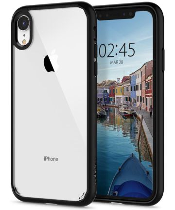 Spigen Ultra Hybrid Hoesje Apple iPhone XR Matte Black Hoesjes