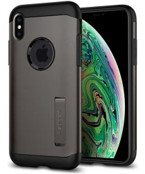 Spigen Slim Armor Hoesje Apple iPhone XS Max Gunmetal