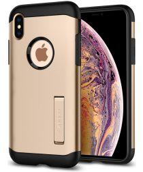 Spigen Slim Armor Hoesje Apple iPhone XS Max Champagne Gold