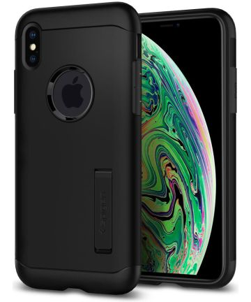 Spigen Slim Armor Hoesje Apple iPhone XS Max Black Hoesjes