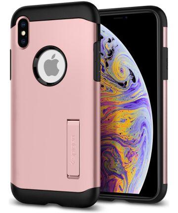 Spigen Slim Armor Hoesje Apple iPhone XS Max Rose Gold