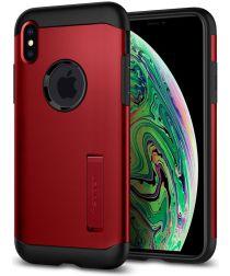 Spigen Slim Armor Hoesje Apple iPhone XS Max Merlot Red