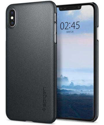 Spigen Thin Fit A Case Apple iPhone XS Max Graphite Gray Hoesjes