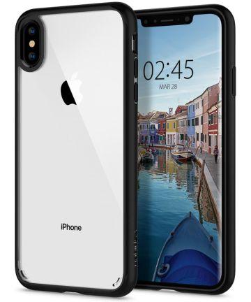 Spigen Ultra Hybrid Hoesje Apple iPhone XS Max Matte Zwart