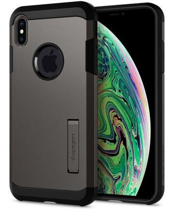 Spigen Tough Armor Case Apple iPhone XS Max Gunmetal Hoesjes