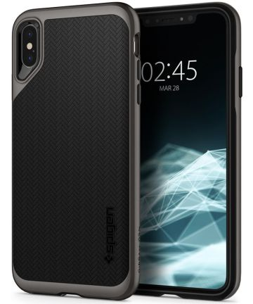 Spigen Neo Hybrid Hoesje Apple iPhone XS Max Gunmetal