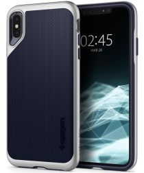 Spigen Neo Hybrid Hoesje Apple iPhone XS Max Satin Silver