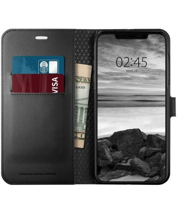 Spigen Wallet S Flip Case Apple iPhone XS Max Black Hoesjes