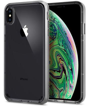 Spigen Neo Hybrid Crystal Hoesje iPhone XS Max Crystal Satin Silver Hoesjes