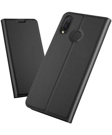 Huawei P Smart Plus Luxe Portemonnee Hoesje Zwart