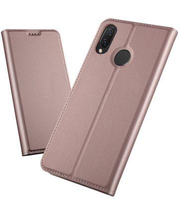 Huawei P Smart Plus Luxe Portemonnee Hoesje Roze Goud