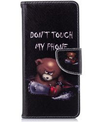 Nokia 5.1 Portemonnee Hoesje met Don't Touch My Phone Print
