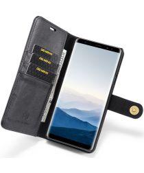 Samsung Galaxy Note 9 Echt Leren 2-in-1 Portemonnee Hoesje Zwart