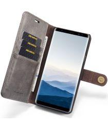 Samsung Galaxy Note 9 Echt Leren 2-in-1 Portemonnee Hoesje Grijs