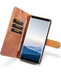 Samsung Galaxy Note 9 Echt Leren 2-in-1 Portemonnee Hoesje Bruin