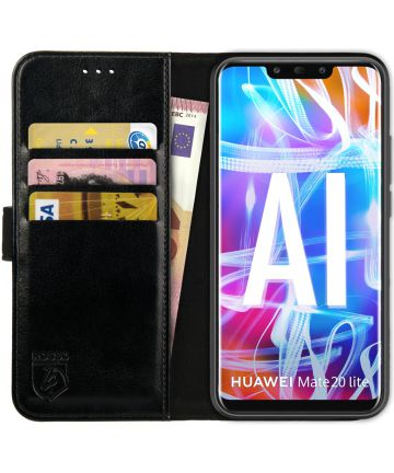 Rosso Element Huawei Mate 20 Lite Hoesje Book Cover Zwart