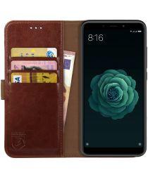 Rosso Element Xiaomi Mi A2 Hoesje Book Cover Bruin