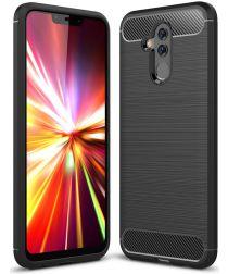 Huawei Mate 20 Lite Geborsteld TPU Hoesje Zwart