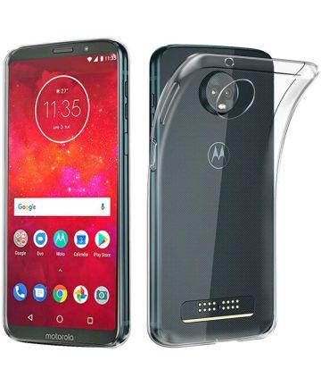 Motorola Moto Z3 Play Hoesje Dun TPU Transparant Hoesjes