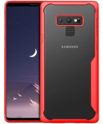 Samsung Galaxy Note 9 Transparante Armor Backcover Rood