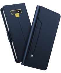 Samsung Galaxy Note 9 Book Cover met Spiegel Blauw