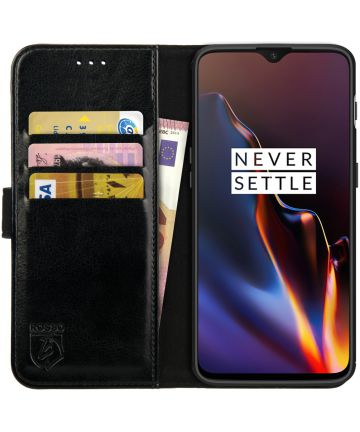 Rosso Element OnePlus 6T Hoesje Book Cover Zwart