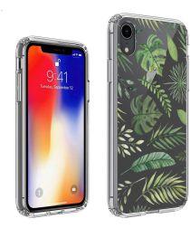 Apple iPhone XR Transparante Print Back Cover Hoesje Botanic