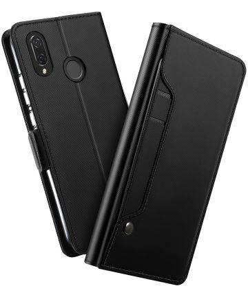 Huawei P Smart Plus Book Cover met Spiegel Zwart