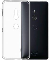 Sony Xperia XZ3 Hoesje Dun TPU Transparant