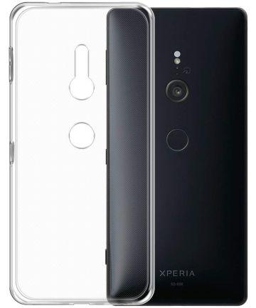 Sony Xperia XZ3 Hoesje Dun TPU Transparant Hoesjes