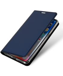 Dux Ducis Apple iPhone XS Max Premium Bookcase Hoesje Blauw