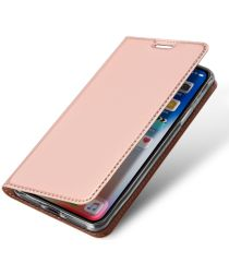 Dux Ducis Apple iPhone XR Premium Bookcase Hoesje Roze Goud