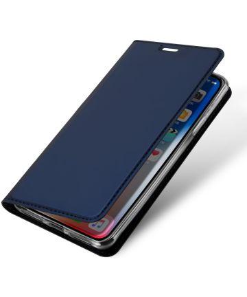 Dux Ducis Apple iPhone XR Premium Bookcase Hoesje Blauw Hoesjes