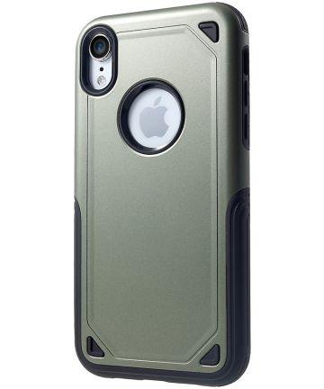 Apple iPhone XR Stevig Hybride Hoesje Groen Hoesjes