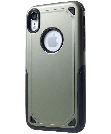 Apple iPhone XR Stevig Hybride Hoesje Groen